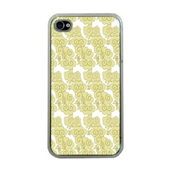 Waves Flower Apple iPhone 4 Case (Clear)