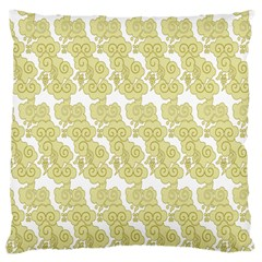 Waves Flower Large Cushion Case (Two Sides)