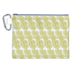 Waves Flower Canvas Cosmetic Bag (XXL)