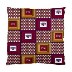 African Fabric Diamon Chevron Yellow Pink Purple Plaid Standard Cushion Case (one Side)