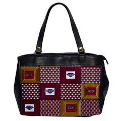 African Fabric Diamon Chevron Yellow Pink Purple Plaid Office Handbags