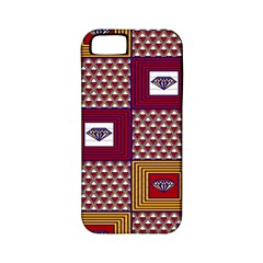 African Fabric Diamon Chevron Yellow Pink Purple Plaid Apple Iphone 5 Classic Hardshell Case (pc+silicone)