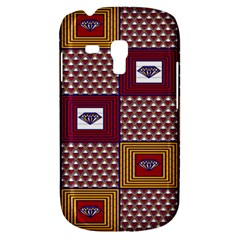 African Fabric Diamon Chevron Yellow Pink Purple Plaid Galaxy S3 Mini