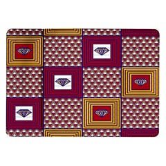 African Fabric Diamon Chevron Yellow Pink Purple Plaid Samsung Galaxy Tab 10 1  P7500 Flip Case