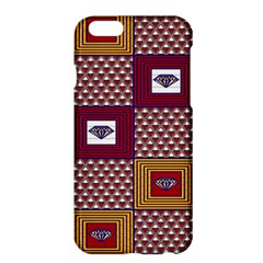 African Fabric Diamon Chevron Yellow Pink Purple Plaid Apple iPhone 6 Plus/6S Plus Hardshell Case