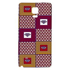 African Fabric Diamon Chevron Yellow Pink Purple Plaid Galaxy Note 4 Back Case