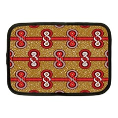 African Fabric Iron Chains Red Purple Pink Netbook Case (Medium)