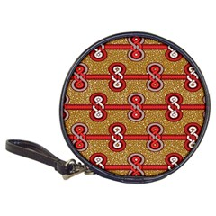 African Fabric Iron Chains Red Purple Pink Classic 20-CD Wallets