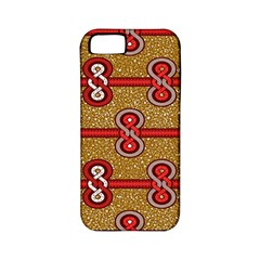 African Fabric Iron Chains Red Purple Pink Apple Iphone 5 Classic Hardshell Case (pc+silicone)