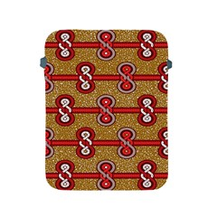 African Fabric Iron Chains Red Purple Pink Apple iPad 2/3/4 Protective Soft Cases