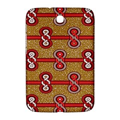 African Fabric Iron Chains Red Purple Pink Samsung Galaxy Note 8.0 N5100 Hardshell Case