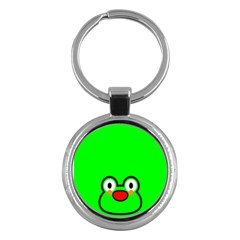 Animals Frog Face Green Key Chains (round)