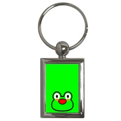Animals Frog Face Green Key Chains (Rectangle)