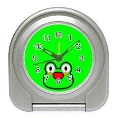Animals Frog Face Green Travel Alarm Clocks