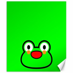 Animals Frog Face Green Canvas 20  x 24