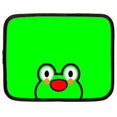 Animals Frog Face Green Netbook Case (Large)