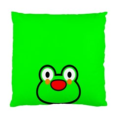 Animals Frog Face Green Standard Cushion Case (one Side)