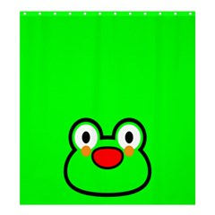Animals Frog Face Green Shower Curtain 66  x 72  (Large)