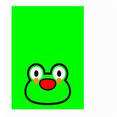Animals Frog Face Green Large Garden Flag (Two Sides)