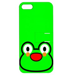 Animals Frog Face Green Apple iPhone 5 Hardshell Case with Stand