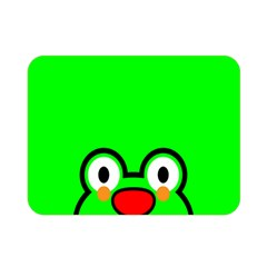 Animals Frog Face Green Double Sided Flano Blanket (Mini)