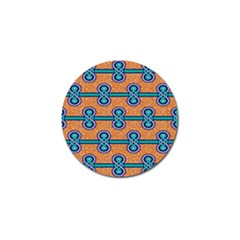 African Fabric Iron Chains Blue Orange Golf Ball Marker (10 pack)