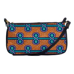 African Fabric Iron Chains Blue Orange Shoulder Clutch Bags