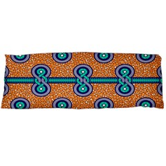 African Fabric Iron Chains Blue Orange Body Pillow Case Dakimakura (Two Sides)