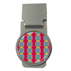 African Fabric Iron Chains Red Yellow Blue Grey Money Clips (Round)