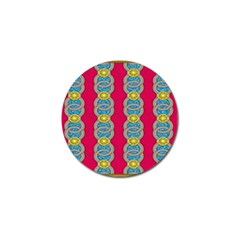 African Fabric Iron Chains Red Yellow Blue Grey Golf Ball Marker