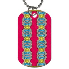 African Fabric Iron Chains Red Yellow Blue Grey Dog Tag (two Sides)