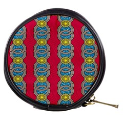 African Fabric Iron Chains Red Yellow Blue Grey Mini Makeup Bags