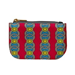 African Fabric Iron Chains Red Yellow Blue Grey Mini Coin Purses