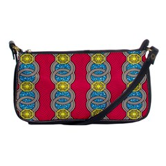 African Fabric Iron Chains Red Yellow Blue Grey Shoulder Clutch Bags