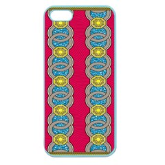 African Fabric Iron Chains Red Yellow Blue Grey Apple Seamless Iphone 5 Case (color)