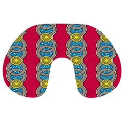 African Fabric Iron Chains Red Yellow Blue Grey Travel Neck Pillows