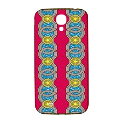African Fabric Iron Chains Red Yellow Blue Grey Samsung Galaxy S4 I9500/i9505  Hardshell Back Case