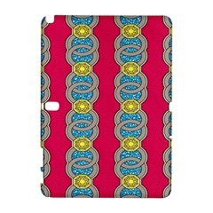 African Fabric Iron Chains Red Yellow Blue Grey Galaxy Note 1