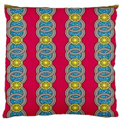 African Fabric Iron Chains Red Yellow Blue Grey Standard Flano Cushion Case (One Side)