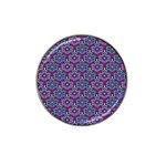 African Fabric Flower Purple Hat Clip Ball Marker (10 pack) Front