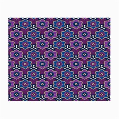 African Fabric Flower Purple Small Glasses Cloth