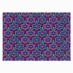 African Fabric Flower Purple Large Glasses Cloth