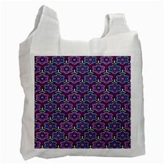 African Fabric Flower Purple Recycle Bag (One Side)