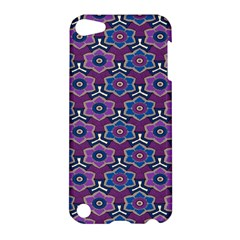African Fabric Flower Purple Apple iPod Touch 5 Hardshell Case
