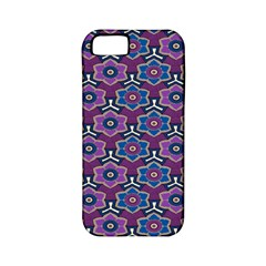 African Fabric Flower Purple Apple iPhone 5 Classic Hardshell Case (PC+Silicone)