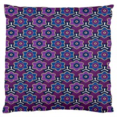 African Fabric Flower Purple Large Flano Cushion Case (One Side)