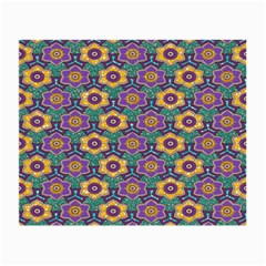 African Fabric Flower Green Purple Small Glasses Cloth