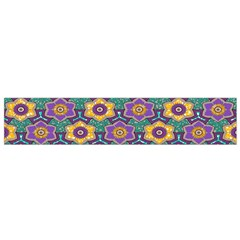 African Fabric Flower Green Purple Flano Scarf (Small)