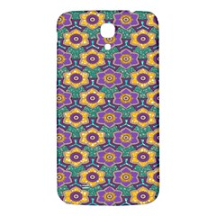 African Fabric Flower Green Purple Samsung Galaxy Mega I9200 Hardshell Back Case