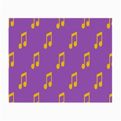 Eighth Note Music Tone Yellow Purple Small Glasses Cloth